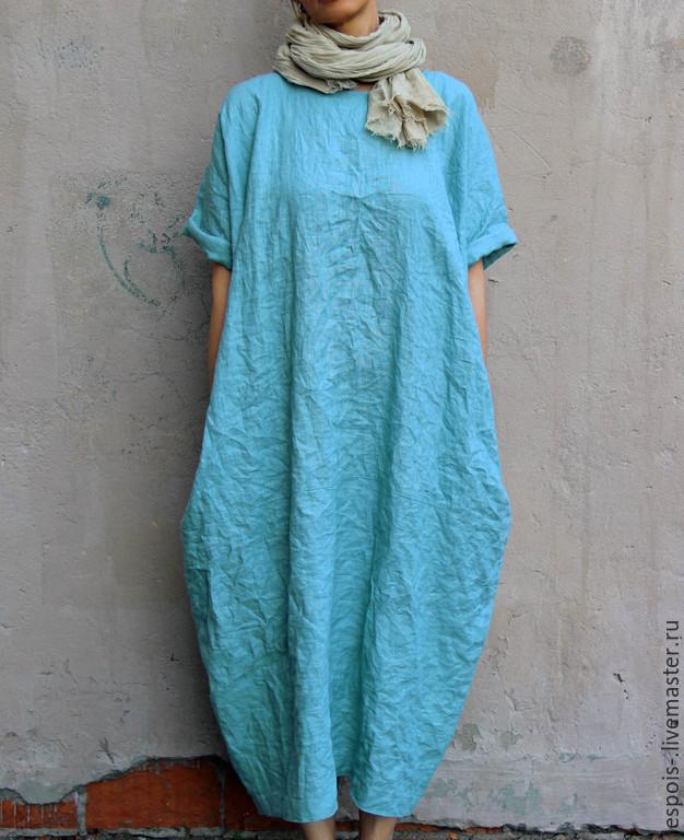 46e542742f14db1 Платья ручной работы. Ярмарка Мастеров - ручная работа. Купить Льняное  платье. Handmade.