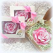 Косметика ручной работы. Ярмарка Мастеров - ручная работа Роза в коробочке мыло в подарок. Handmade.