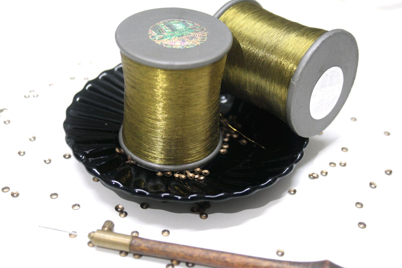 Металлизированные нитки для вышивки античное золото, Нитки, Саратов,  Фото №1