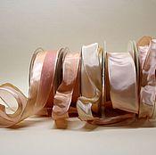 Ленты ручной работы. Ярмарка Мастеров - ручная работа Лента атласная 40 мм с металлическим краем.. Handmade.