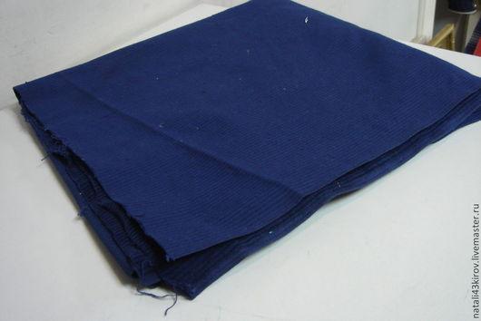 Одежда. Ярмарка Мастеров - ручная работа. Купить Ткань вельвет. Винтаж.. Handmade. Тёмно-синий, ткани, хлопок