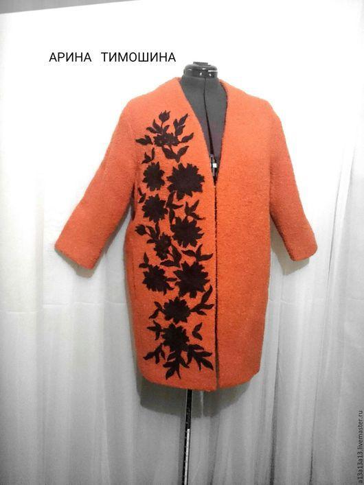 Верхняя одежда ручной работы. Ярмарка Мастеров - ручная работа. Купить БОЛЬШОЙ р-р ПАЛЬТО У-46. Handmade.