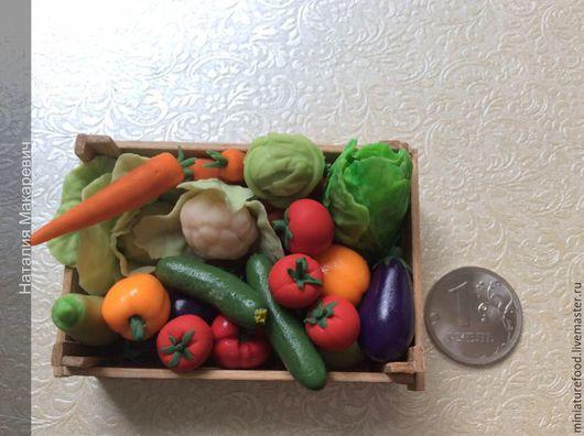 Фото кукольного ящика. Ящик с овощами большой