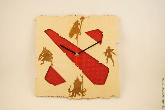 Часы для дома ручной работы. Ярмарка Мастеров - ручная работа. Купить Настенные часы Dota2. Handmade. Dota 2, часы