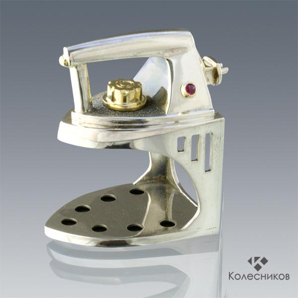 The IRON ring (silver, gold, ruby), Rings, Yaroslavl,  Фото №1