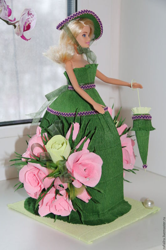 Букеты ручной работы. Ярмарка Мастеров - ручная работа. Купить Лесная фея. Handmade. Тёмно-зелёный, флористическая бумага, декор