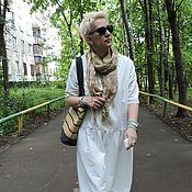 Одежда ручной работы. Ярмарка Мастеров - ручная работа Бохо платье белое  лён.. Handmade.