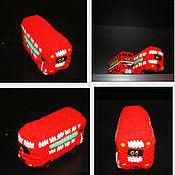 Сувениры и подарки ручной работы. Ярмарка Мастеров - ручная работа Вязаный красный двухэтажный автобус Лондона. Handmade.