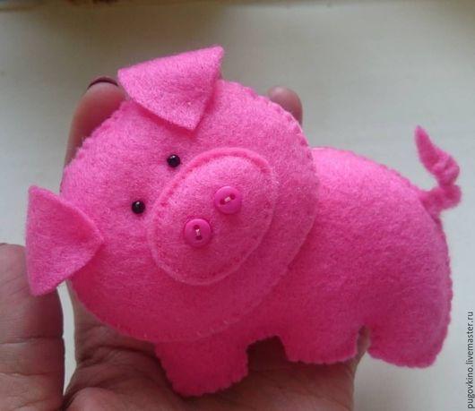 Игрушки животные, ручной работы. Ярмарка Мастеров - ручная работа. Купить Свинка из фетра. Handmade. Розовый, фетр, фетр листовой