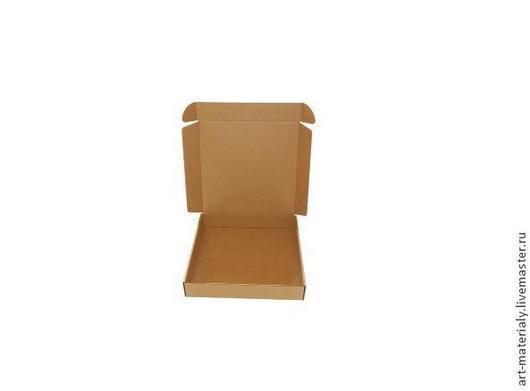 Упаковка ручной работы. Ярмарка Мастеров - ручная работа. Купить Коробка 50Х50Х9 см гофрокартон. Handmade. Коричневый, картонная коробка