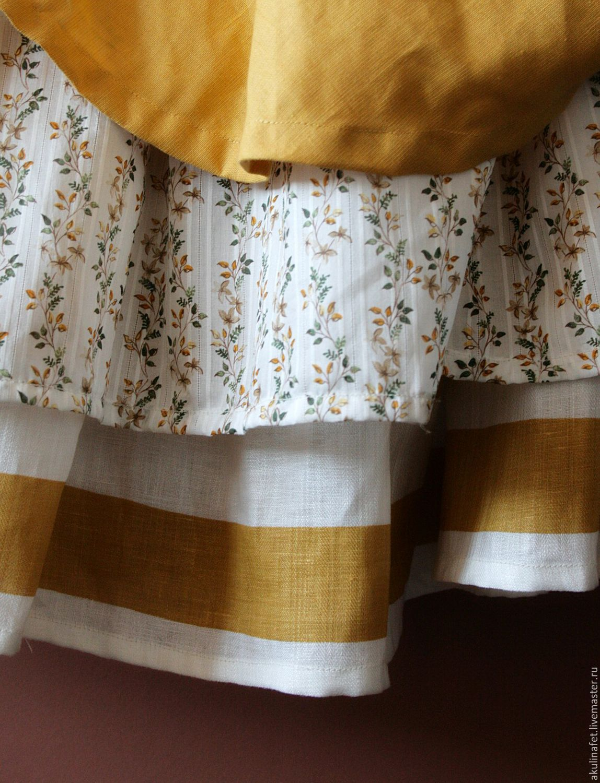 Длинные юбки из льна сшить