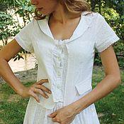 Одежда handmade. Livemaster - original item White blouse (cotton-sewing). Handmade.