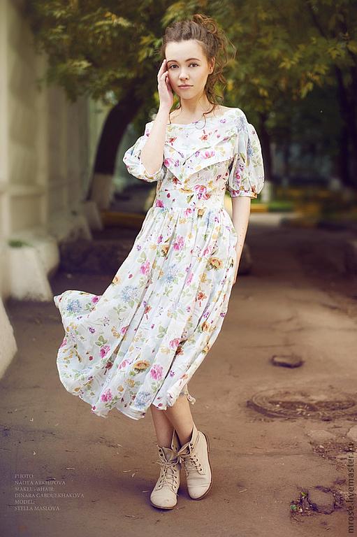 """Платья ручной работы. Ярмарка Мастеров - ручная работа. Купить Платье """"Барышня"""" бежевое. Handmade. Бежевый, платье, платье на выпускной"""