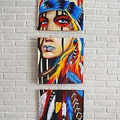 Картины ручной работы. Ярмарка Мастеров - ручная работа Картины: Индеец. Handmade.