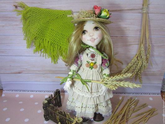 Коллекционные куклы ручной работы. Ярмарка Мастеров - ручная работа. Купить Альпийская пастушка. Handmade. Бордовый, подарок на любой случай