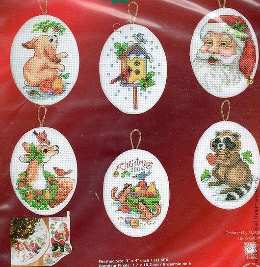 """Вышивка ручной работы. Ярмарка Мастеров - ручная работа. Купить Набор для вышивания игрушек Janlynn """"Рождественские орнаменты"""". Handmade."""