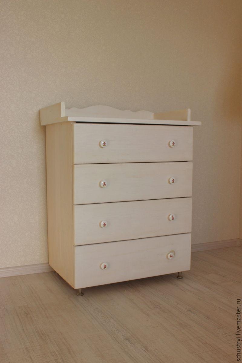 Livemaster Handmade Dresser Wood Solid Cedar White Bear