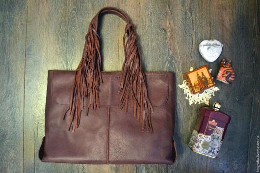 Женские сумки ручной работы. Ярмарка Мастеров - ручная работа. Купить Кожаная сумка WIND. Handmade. Бордовый, кожа натуральная