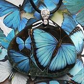 """Украшения ручной работы. Ярмарка Мастеров - ручная работа Кулон """"Бабочки"""". Handmade."""