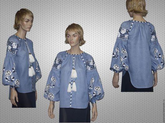 Этническая одежда ручной работы. Ярмарка Мастеров - ручная работа. Купить Размер M Вышитая блузка рубашка Вита Кин Стиль. Handmade.