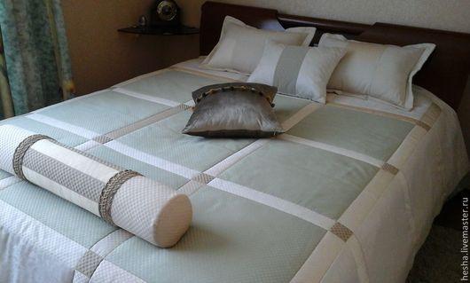 Текстиль, ковры ручной работы. Ярмарка Мастеров - ручная работа. Купить комплект для спальни. продан. Handmade. Мятный, интерьерные ткани