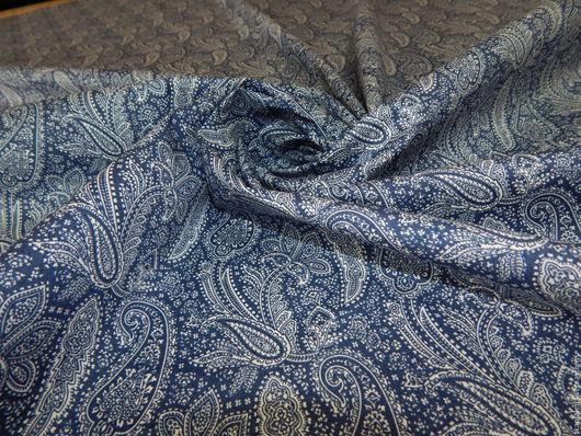 Шитье ручной работы. Ярмарка Мастеров - ручная работа. Купить Хлопковая ткань Paul Smith, Италия. Handmade. Тёмно-синий