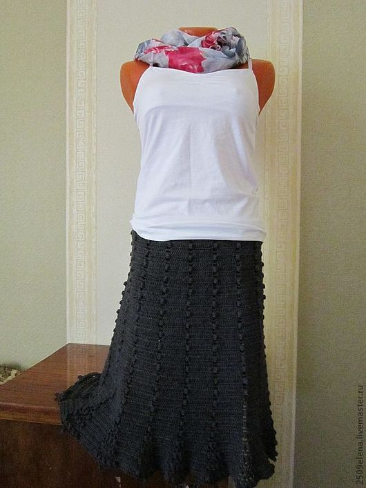 Юбки ручной работы. Ярмарка Мастеров - ручная работа. Купить Юбка вязаная (Модель из журнала мод). Handmade.