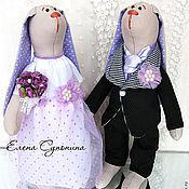 Куклы и игрушки ручной работы. Ярмарка Мастеров - ручная работа Зайцы свадебные. Handmade.