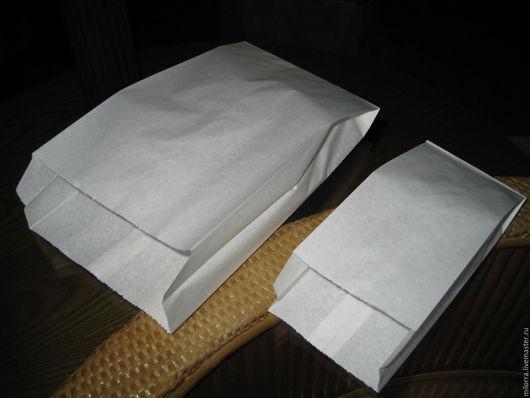 Упаковка ручной работы. Ярмарка Мастеров - ручная работа. Купить Пакет бумажный белый (2 размера). Handmade. Крафт