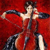 Картины и панно handmade. Livemaster - original item Oil painting In tune with music. Handmade.