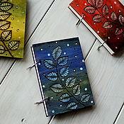 "Канцелярские товары handmade. Livemaster - original item Sketchbook A6 wood cover ""Twig"". Handmade."