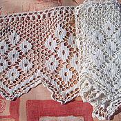 Винтаж handmade. Livemaster - original item Vintage lace for the valance number №2. Handmade.