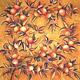 Платок батик `Золотые апельсины` (2) (общий вид)