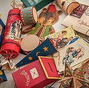 Елочные игрушки ручной работы. Ярмарка Мастеров - ручная работа Ёлочный картонаж в ретро стиле. Handmade.