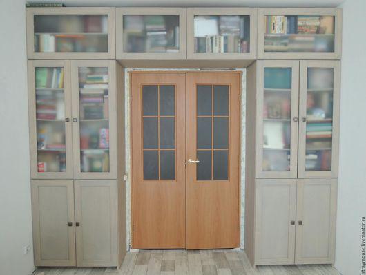 Мебель ручной работы. Ярмарка Мастеров - ручная работа. Купить Библиотечный шкаф. Handmade. Серый, шкаф