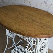 Для дома и интерьера ручной работы. Ярмарка Мастеров - ручная работа Кухонный стол с чугунным основанием. Handmade.