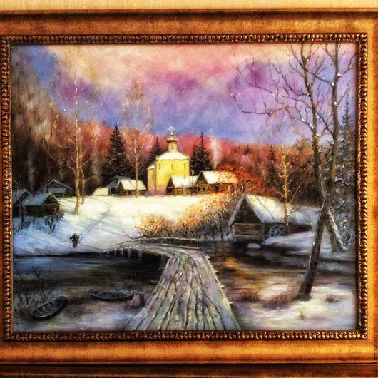Пейзаж ручной работы. Ярмарка Мастеров - ручная работа. Купить Картина в подарок Оболенское. Handmade. Пейзаж, картина в подарок