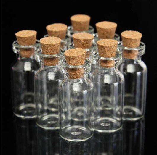 Упаковка ручной работы. Ярмарка Мастеров - ручная работа. Купить Бутылочки мини. Handmade. Бутылочка, бутылочка-подвеска, бутылочки для декора