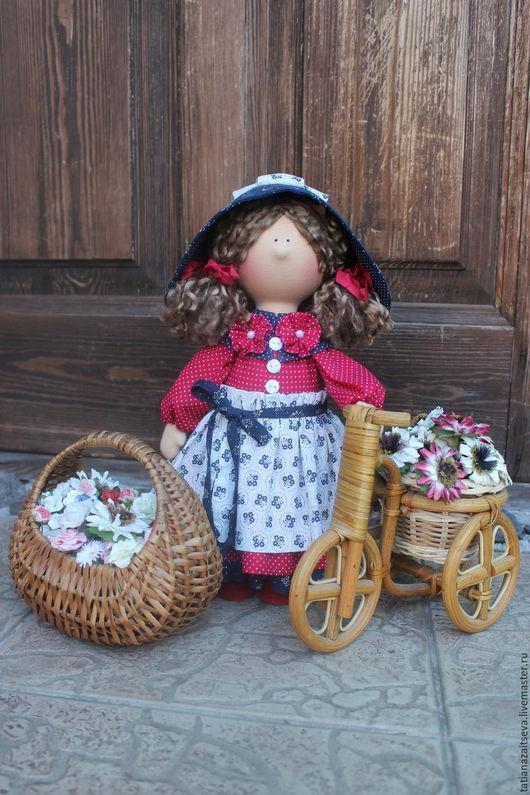 Коллекционные куклы ручной работы. Ярмарка Мастеров - ручная работа. Купить Интерьерная текстильная кукла Николь. Handmade. Разноцветный, синий