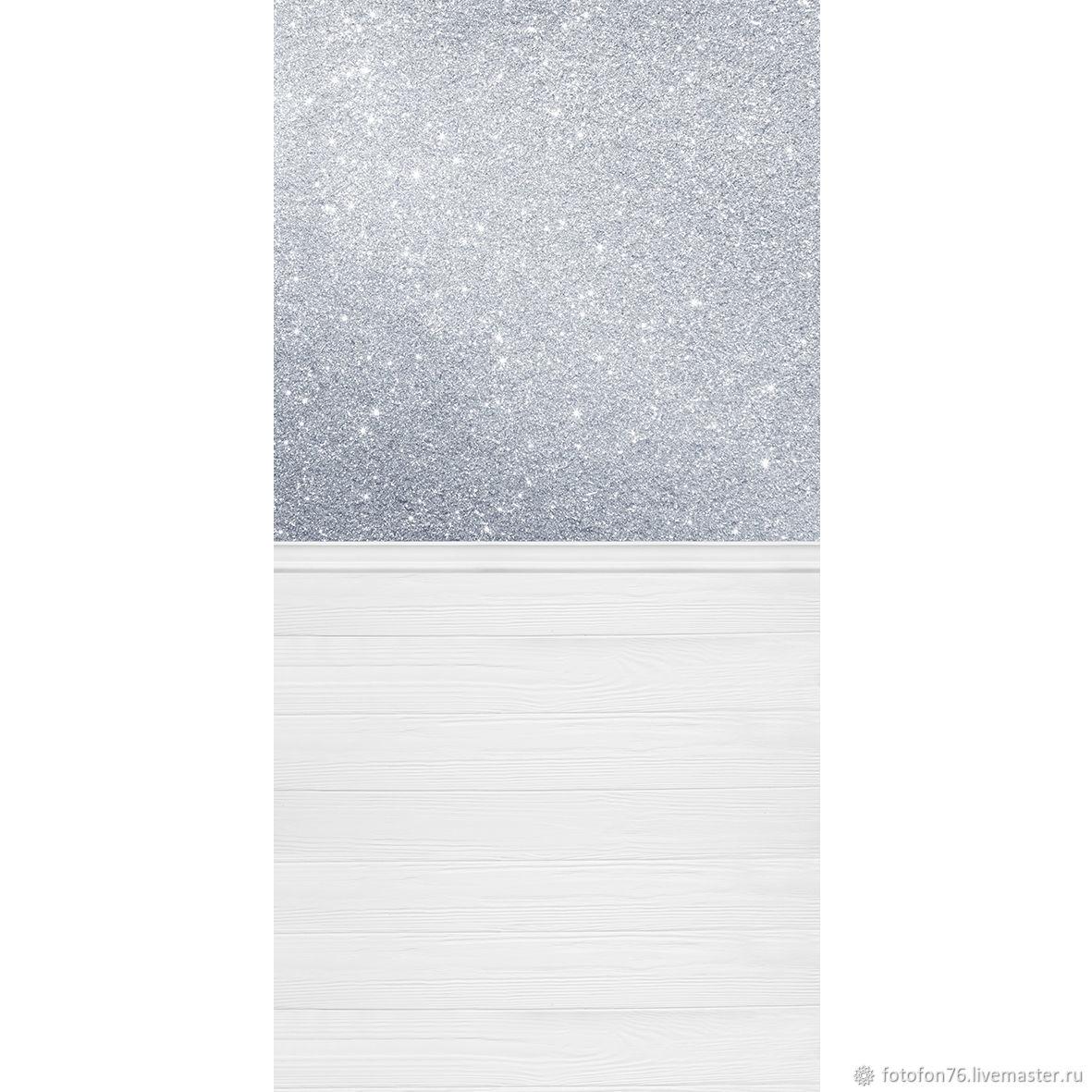Фотофон виниловый Блёстки серебро (пол/стена) 50х100 см, Фото, Ярославль,  Фото №1