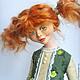 Коллекционные куклы ручной работы. Заказать Глаша.. Мария К. (Menka). Ярмарка Мастеров. Оранжевое настроение, кукла с чайником, войлок