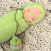 Куклы и игрушки ручной работы. Ярмарка Мастеров - ручная работа Салатовая сплюшка. Handmade.