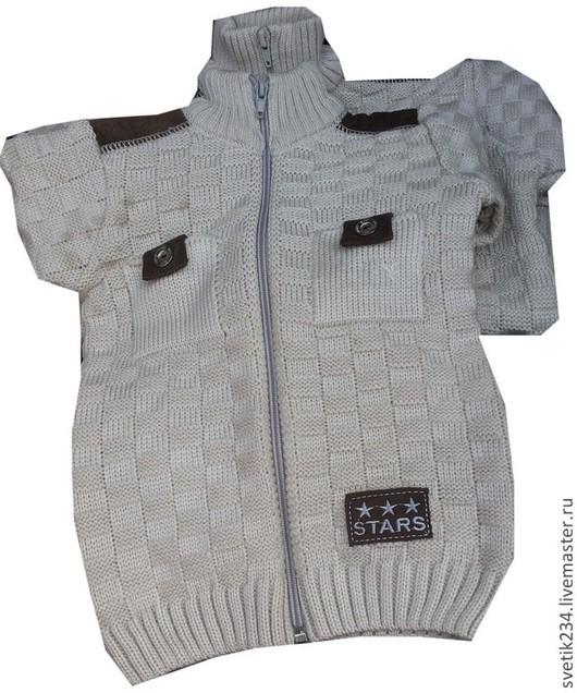 Одежда для мальчиков, ручной работы. Ярмарка Мастеров - ручная работа. Купить Кофта для мальчика. Handmade. Серый, кофта для мальчика