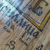 Картины и панно handmade. Livemaster - original item Panels: Cyrillic wall panel, wooden. Handmade.