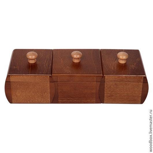 Подарочные наборы ручной работы. Ярмарка Мастеров - ручная работа. Купить ХОРОШИЙ ПОДАРОК со скидкой: набор шкатулок с отделкой под орех. Handmade.