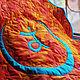 """Текстиль, ковры ручной работы. Коврик для медитации """"Свадхистана"""". Annikki Patchworks. Ярмарка Мастеров. Коврик для йоги, подарок"""