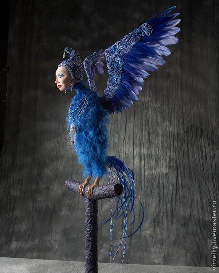 Коллекционные куклы ручной работы. Ярмарка Мастеров - ручная работа. Купить Синяя птица. Handmade. Авторская кукла, интерьерная кукла