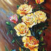 """Картины и панно handmade. Livemaster - original item Oil Painting on canvas """"Freshness of yellow splendor"""". Handmade."""