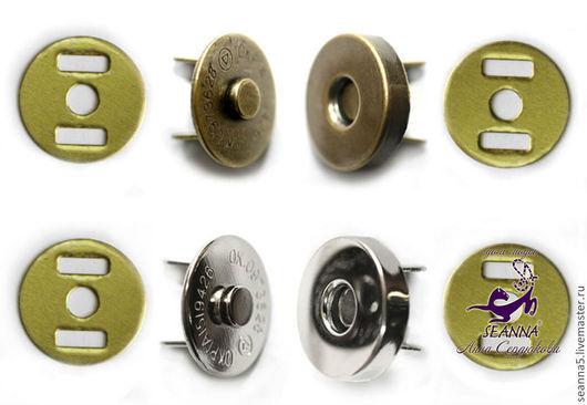 Шитье ручной работы. Ярмарка Мастеров - ручная работа. Купить Магнитная кнопка для сумок в 4 цветах - золото, никель,бронза, черный. Handmade.