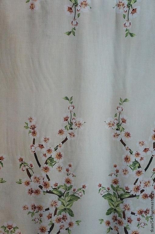 Шитье ручной работы. Ярмарка Мастеров - ручная работа. Купить Ткань плат. штапель 6270/5910, 150 см, бежевый. Handmade.
